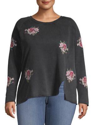 Lucky Brand Plus Plus Plus Floral Sweatshirt