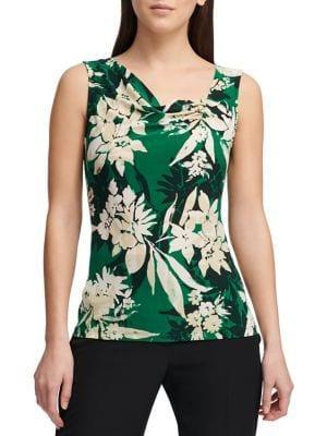 Donna Karan Floral-print Top