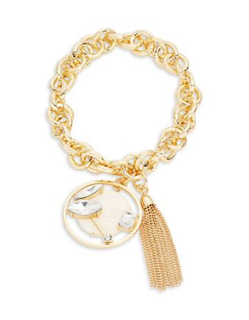 R.j. Graziano Multi Charm Chainlink Stretch Bracelet