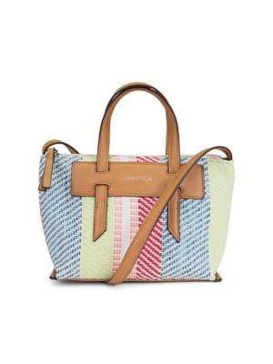 Nautica West Palm Multicolored Straw Crossbody Bag