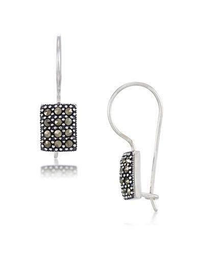 Lord & Taylor Sterling Silver Square Drop Earrings