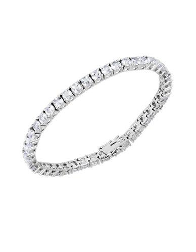 Lord & Taylor Cubic Zirconia And Sterling Silver Line Bracelet