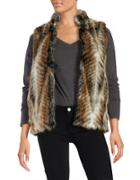 Donna Salyers Multi-colored Faux Fur Vest