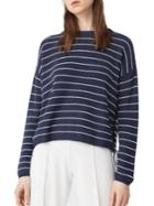 Mango Roundneck Long-sleeve Striped Pullover
