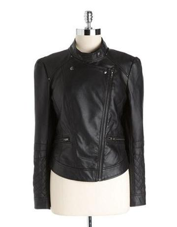 Jessica Simpson Faux-leather Moto Jacket