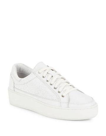Free People Letterman Leather Sneakers
