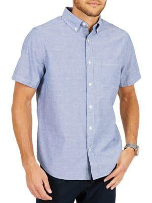 Nautica Classic-fit Printed Chambray Shirt