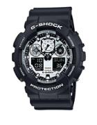 Black Resin G-shock Watch, Ga100bw1a