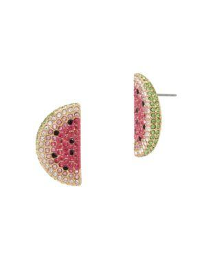 Betsey Johnson Summer Minis Watermelon Slice Earrings