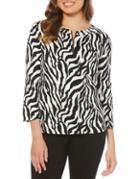 Rafaella Zebra Cotton Top