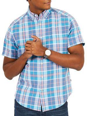 Nautica Classic-fit Plaid Button-down Shirt