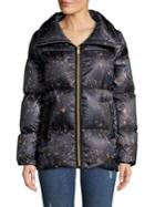 Cole Haan Signature Quilted A-line Down Coat