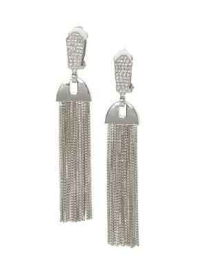 Vince Camuto Crystal Tassel Earrings