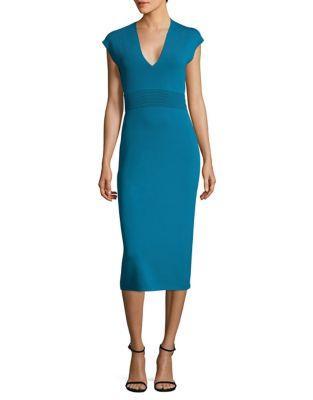 Michael Michael Kors Midi V-neck Knit Dress