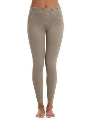 Spanx Plus Ankle Jean-ish Camouflage Cotton Blend Leggings