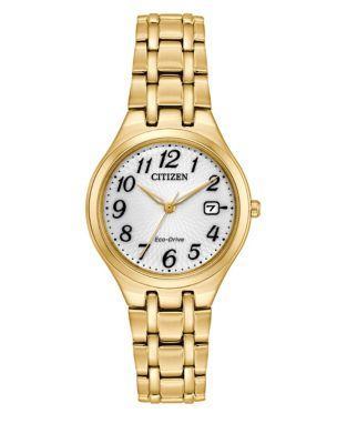 Citizen Eco-drive Goldtone Stainless Steel Link Bracelet Watch