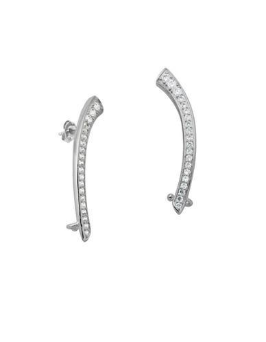 Lord & Taylor White Sapphire Ear Crawler Earrings