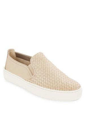 The Flexx Sneak Name Woven Leather Sneakers