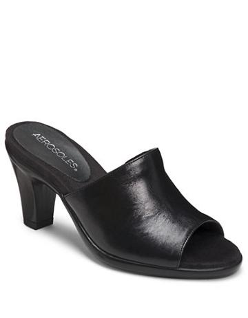 Aerosoles Brilliance Leather Slides