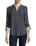 Ivanka Trump Patterned Crepe Blouse