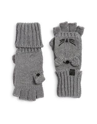 Karl Lagerfeld Crocheted Mittens