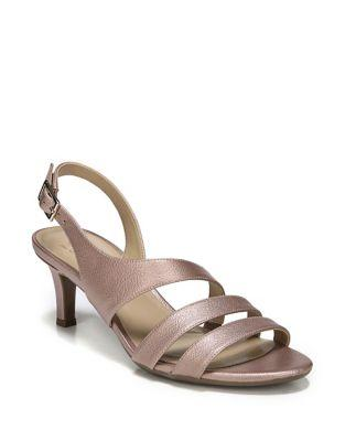 Naturalizer Taimi Metallic Leather Slingback Sandals