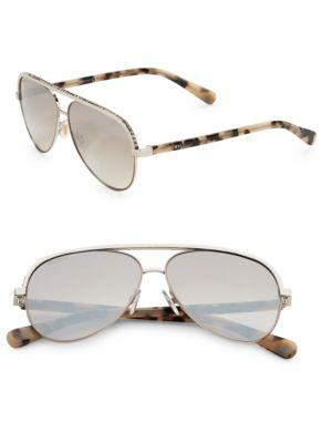 8e6f5bfb8777 Jimmy Choo Linas 59mm Metal Aviator Sunglasses