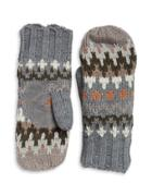 Isotoner Chevron Knit Sherpa Lined Mittens