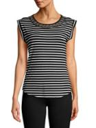 Cupio Striped Stretch Top