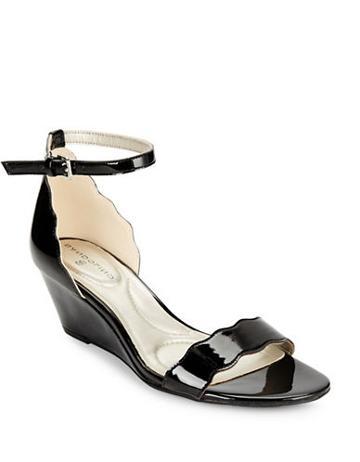 Bandolino Opali Patent Wedge Sandals