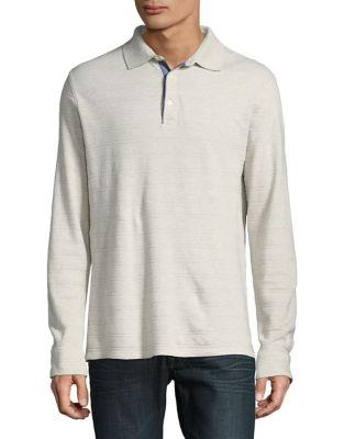 Black Brown Stripe Cotton Polo