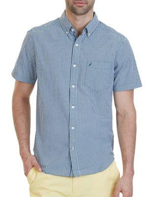 Nautica Classic Fit Mini Tattersall Short Sleeve Shirt