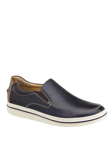 Johnston & Murphy Moc-toe Leather Slip-on Sneakers