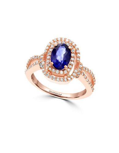 Effy Diamond, Sapphire & 14k Rose Gold Ring