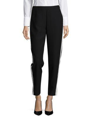 Design Lab Lord & Taylor Contrast Striped Joggers