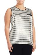Calvin Klein Plus Dot-print Roundneck Top
