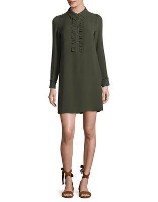 Michael Michael Kors Long-sleeve Silk Dress