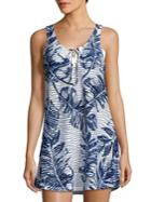 J Valdi Banana Leaf Print Sleeveless Coverup