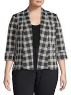Nipon Boutique Plus Wide-lapel Plaid Jacket