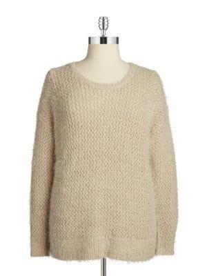 Dknyc Plus Plus Open-knit Sweater