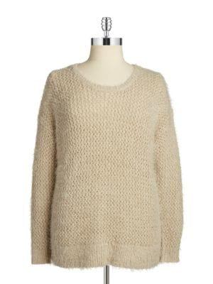 Dknyc Plus Plus Open-knit Sweater