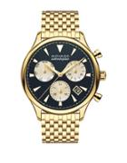 Movado Heritage Calendoplan Goldtone Stainless Steel Bracelet Watch