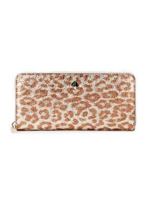 Kate Spade New York Animal-print Leather Zip-around Wallet
