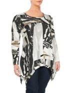 Chelsea & Theodore Printed Roundneck Top