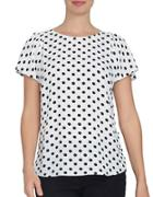 Cece Dotted Crepe Blouse