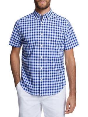 Nautica Classic-fit Gingham Button-down Shirt