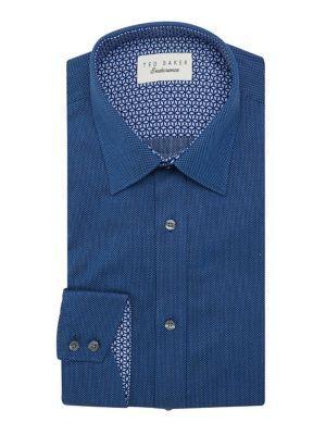 Ted Baker London Endurance Dot-stitched Dress Shirt