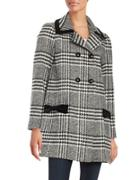 Cece Houndstooth Wool-blend Coat