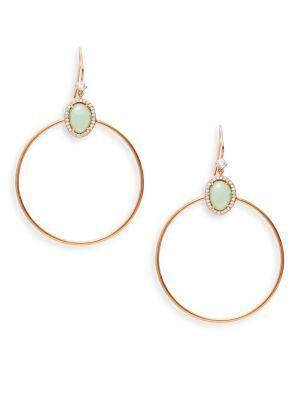 Nadri Isola Crystal And Silver Hoop Earrings