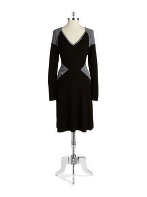 Calvin Klein Coloblock Sweater Dress